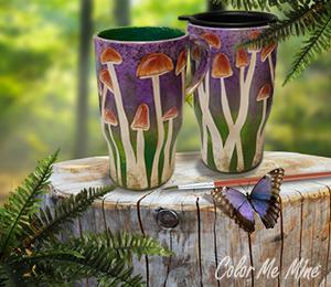 Glenview Mushroom Mugs