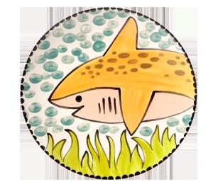 Glenview Happy Shark Plate