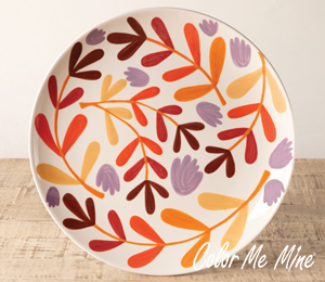 Glenview Fall Floral Charger