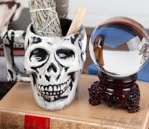 Glenview Antiqued Skull Mug