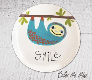 Glenview Sloth Smile Plate