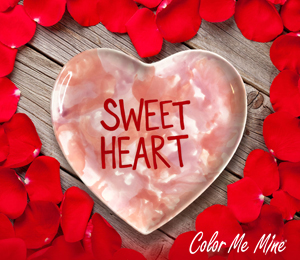 Glenview Candy Heart Plate