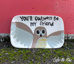 Glenview Owl Plate