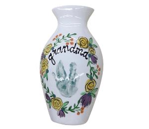 Glenview Floral Handprint Vase