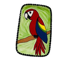 Glenview Scarlet Macaw Plate